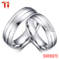 wedding bands 316 stainless steel jewelry 6mm setting zircon and Polished stainless steel jewelry couples love band rings