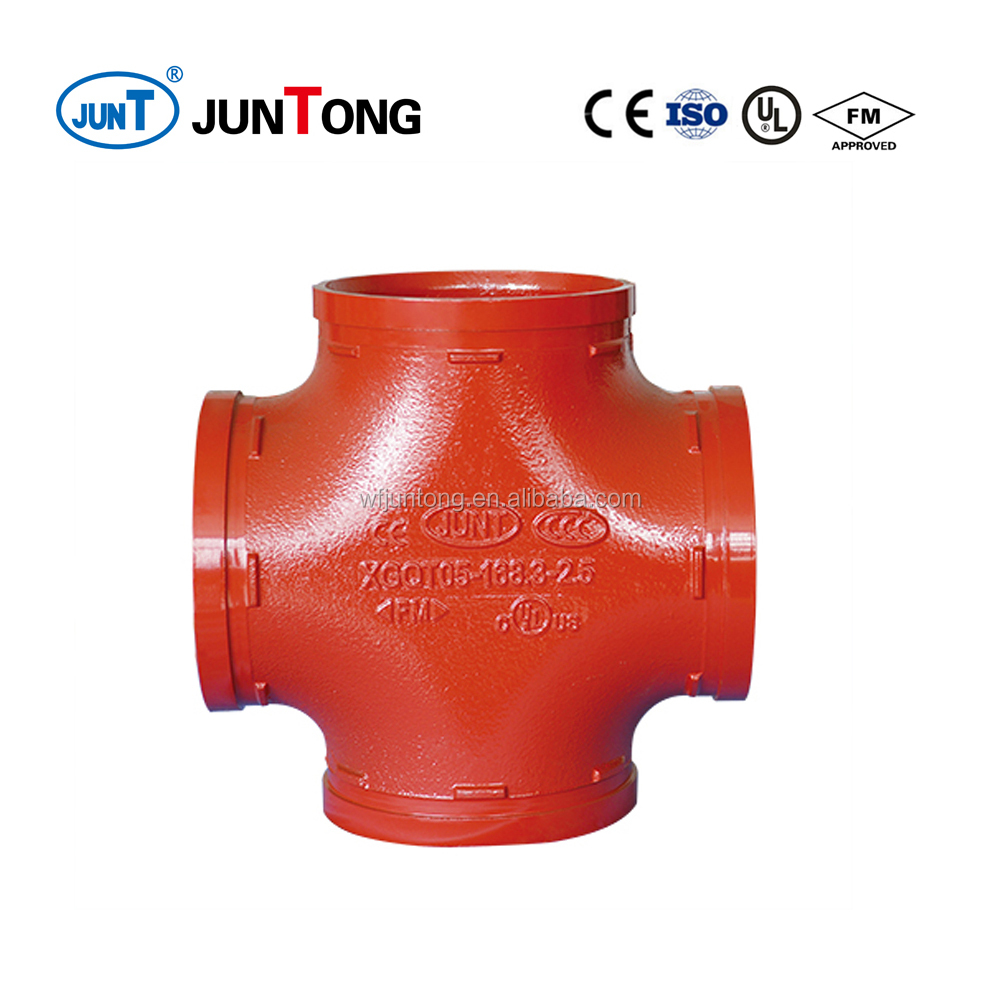 FM UL Grooved Pipe Fittings Equal Cross