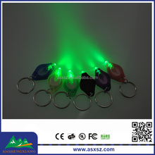 High Brightness Cheap Custom Green Light LED Key Chain KeyChain