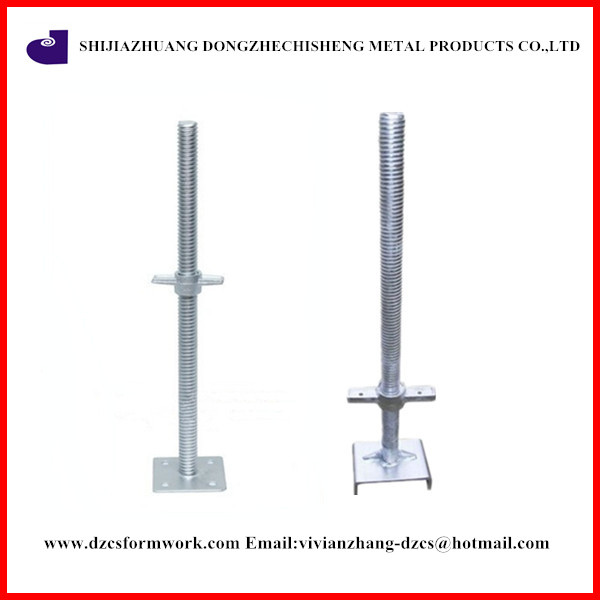 Korea type galvanized 600mm adjustable screw jack post