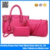 New design high quality fashion style bags pu 3 pcs in 1 bags set handbags with crossbody bags purse for lady