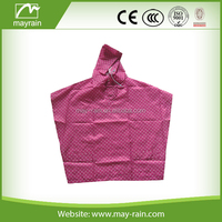 2015 waterproof breathable polyester foldable rain poncho