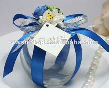 Newest noble and graceful round glass candy box