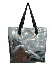NEW TREND!Multifunction Many Style Silver/Gold Washable Kraft Paper Bag Wholesale Paper Tote Bag,Eco-friendly
