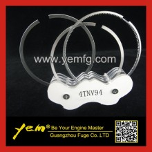 4TNE88 4TNV94 4TNV98 engine piston ring set for excavator diesel engine