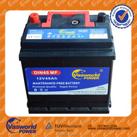 Good price mf battery din 45 12v45ah din 45 car battery american standard battery