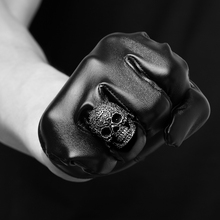 Exquisite Casting Heavy Punk Biker Jewelry 316L Stainless Steel Skull Ring Mold For Men