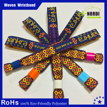 Merchandising products promotional custom woven wristbands