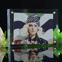 acrylic double side photo frame clear acrylic block photo frame