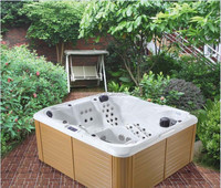 2 lounge multi Jets freestanding hydro outdoor garden water hot tub