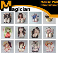 OEM cartoon 3d sexy busty girl mouse pad custom