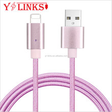 Corded Phone Nylon Round magnetic cable usb for Iphone phone China