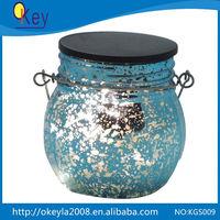 Led solar hanging glass mason jar light for christmas outdoor garden