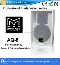 Martin audio style portable cheap professional loud speaker AQ-8
