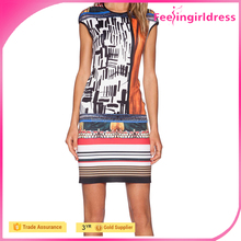 Hot 3D Digital Print Individualized Girl Party Wear Western Dress