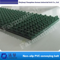 Grass pattern rough surface PVC skid conveyor belt, Color: Green thickness: 5MM packing machine belt customized size