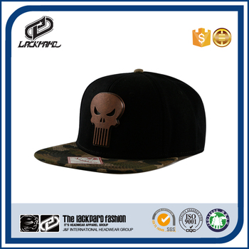 American wholesale metal skull baseball cap hats