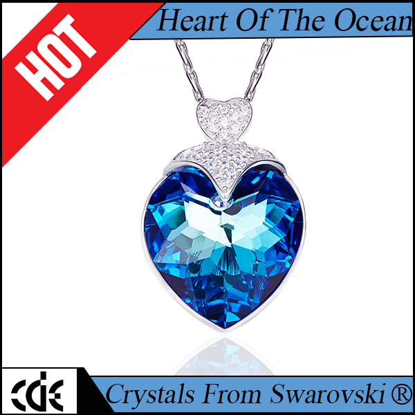 Crystals from Swarovski 2017 fashion trending Titanic Heart Of Ocean pendant necklace
