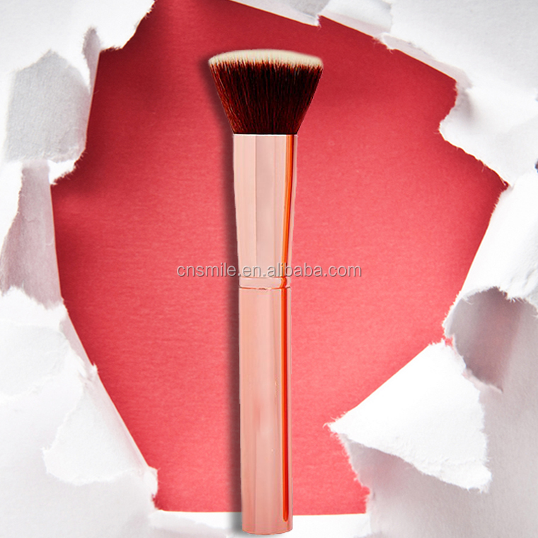 2017 ISO9001 best selling products cosmetics synthetic hair rose gold makeup brush