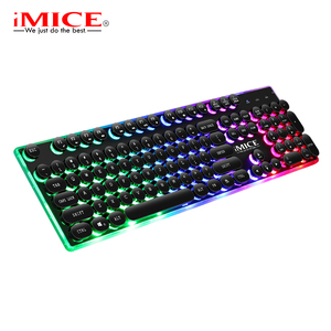 Ergonomics USB Wired LED Gaming Keyboard for Win2000/XP/Vista/7/8/10/Android/Linux
