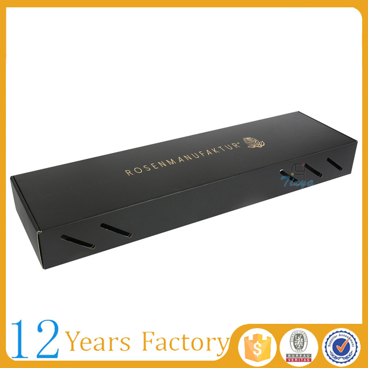tuck top black corrugated paper gift packaging flower gift box