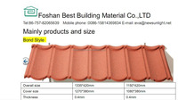 Corrugated Types of Roofing Sheet Stone Coated Metal Purple Roofing Tiles