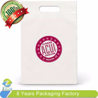 Plastic LDPE small size die cut handle bag