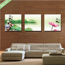 Hot sexy Chinese women photos art print for wall decoration