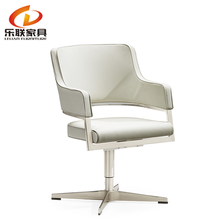New wholesale low round back modern PU or leather optional swivel leisure chair