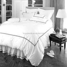Wholesale 100% cotton whte embroidered duvet cover set for 4-5star hotel bed linen