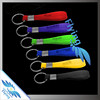 Hot sale silicone rubber bracelet key ring / 100% soft silicone wristband key chain / screen printing silicone