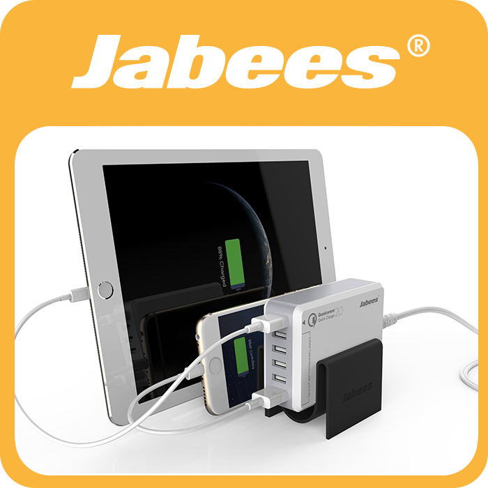 Jabees New Product 50W 6-Port USB Charger Hub Station with Quick Charging for Multiple Phones
