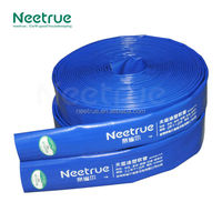 10 inch smooth blue flexible pvc lay flat drain pipe