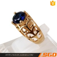 natural blue sapphire gemstone rings 18k gold pron