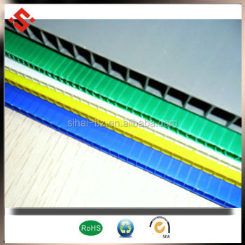 2015 new packing material pp corrugated plastic sheet