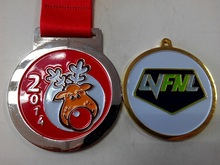 Zinc alloy shiny plated award medal as souvenir or gift in lovely design with air freight discount paid by paypal