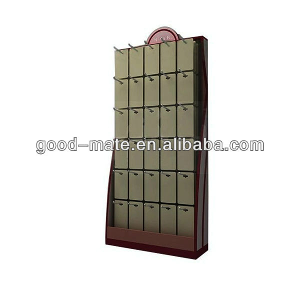 Stable Foldable Metal Hook Display Stand Cardboard Counter Top for Jewelry