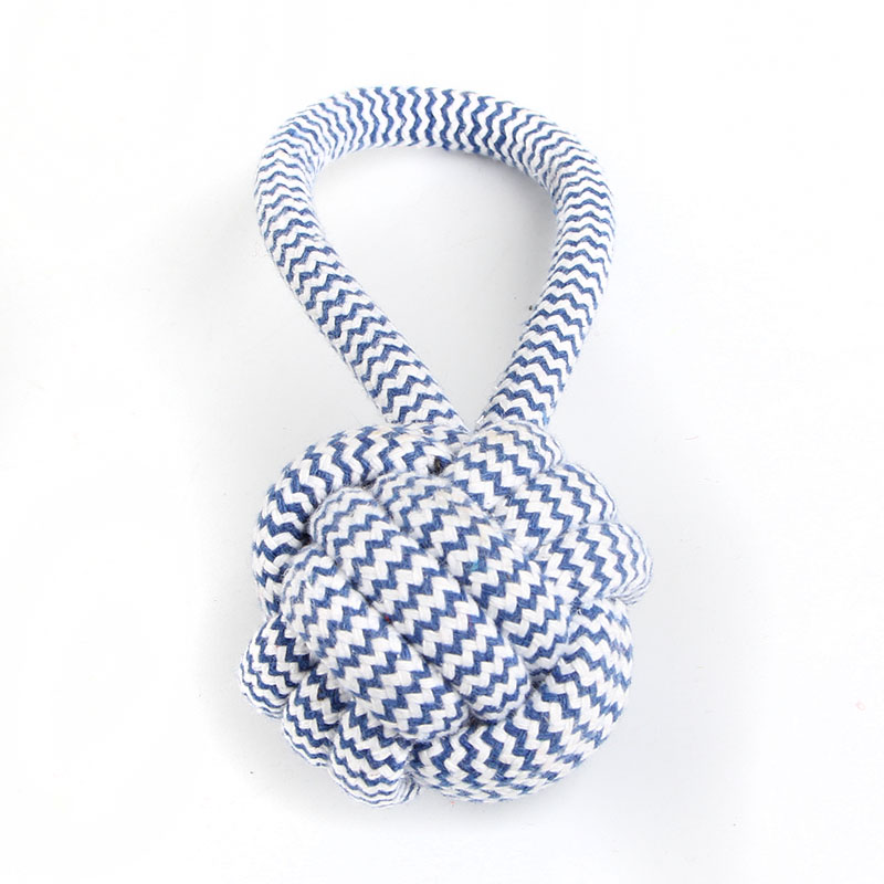 Pet Chew Toy Braided Cotton Rope Knot Tug Dog/Cat Toys Cleaning Teeth and Molar Ball