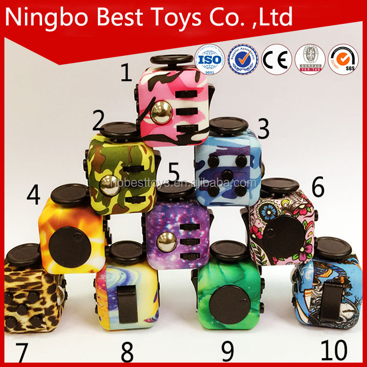 Cheapest Mixed Colors Relieves Anxiety hot sale camouflage fidget magical cube