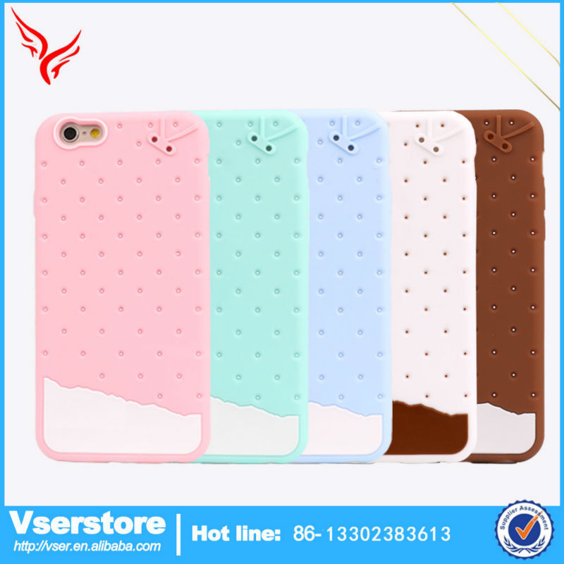 Mobile cover case for iPhone 6 silicon phone case for iPhone ice cream cell phone cover in China