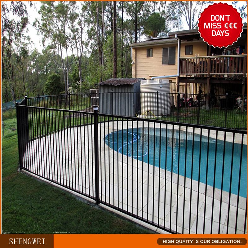 Powder Coated Steel Child Safety Swimming Pool Fence Buy Child Safety Pool Fence Swimming Pool