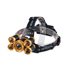 Aluminum High Power Long Range Zoomable T6 LED Rechargeable Outdoor Camping Headlamp