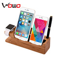 2017 Hot 100% Bamboo Wooden Divide wire Charging station for phone devices