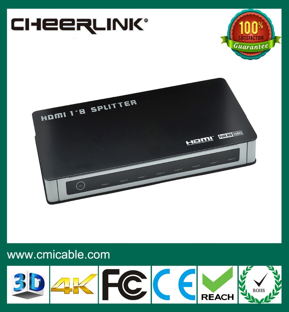 factory provide 8 Port 3D video Hdmi Splitter