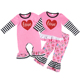 Fall baby clothing wholesale children's boutique clothing Valentine kid clothes