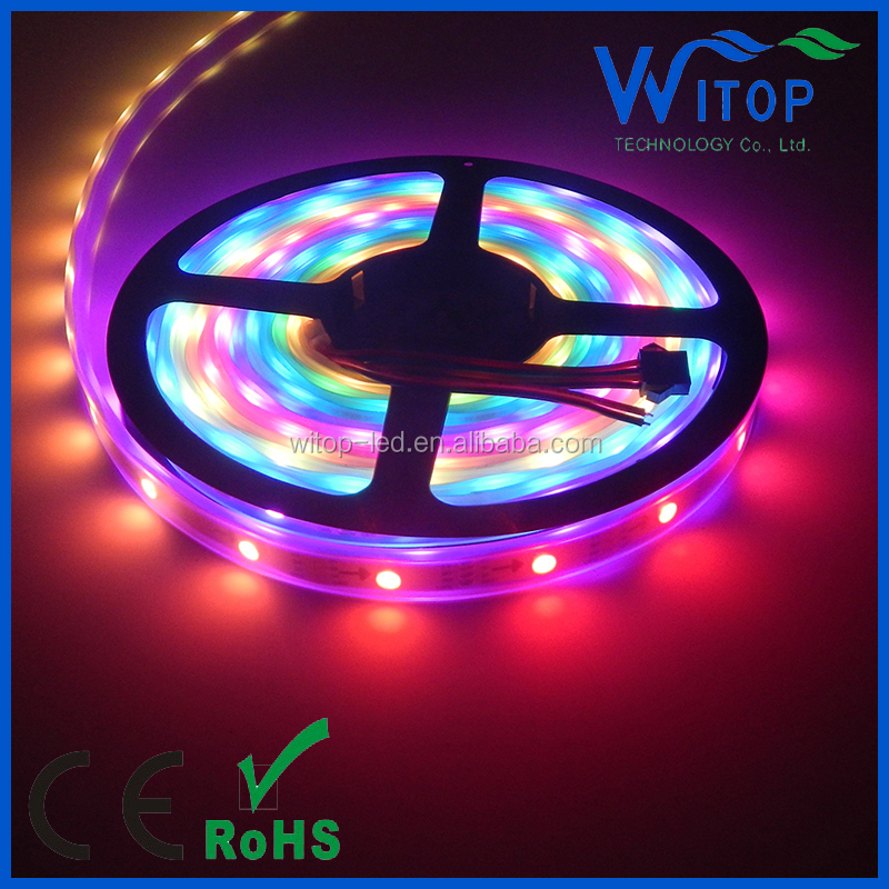 30/60/144 leds/m fantasy color flexible led strip of ws2813 double signal IC inside