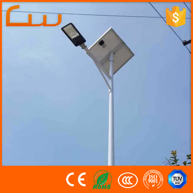 Poly panel system energy 8M 60watt solar LED street light