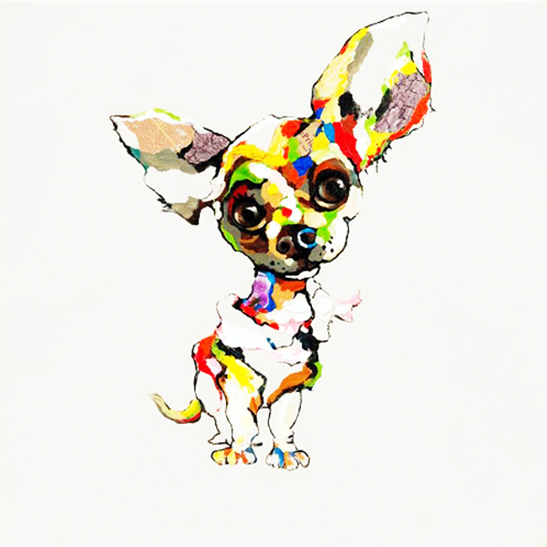 Modern Handmade Pop Animal Oil Painting, Colorful Cute Animal Wall <strong>Art</strong>
