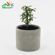 Round Wholesale Concrete Planters Grey