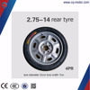 4PR 2.75*14 rear wheel hub wheel rim tyre for three wheeler auto rickshaw